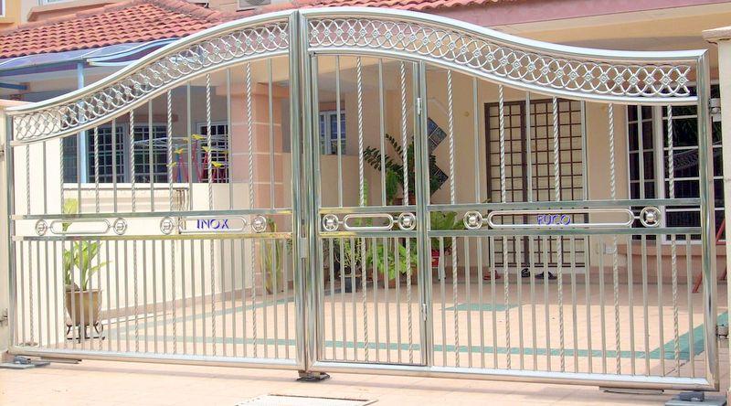 cổng inox mẫu đẹp