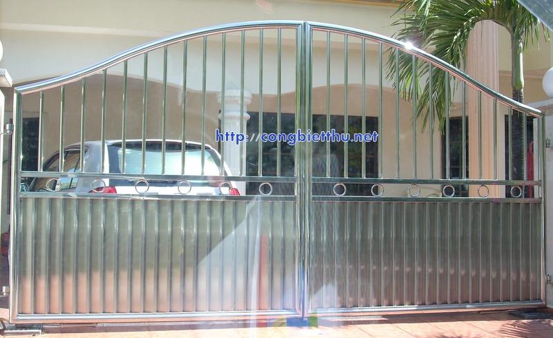 Cổng INOX 304 mẫu 123