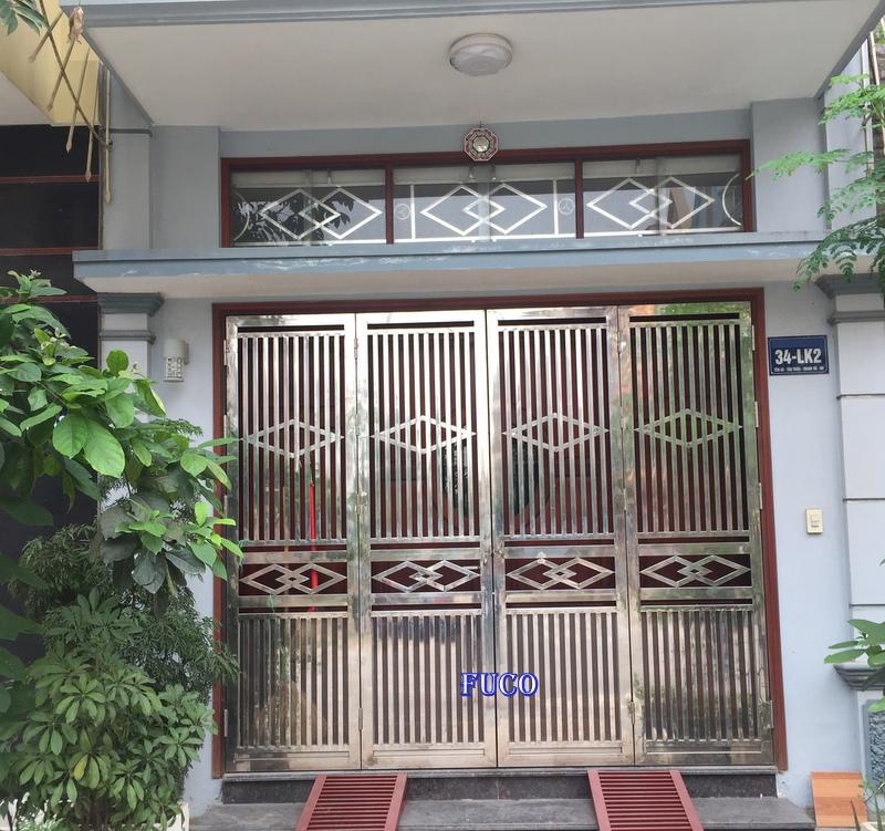 Cửa INOX cao cấp, cửa cổng inox Fuco Hà Nội