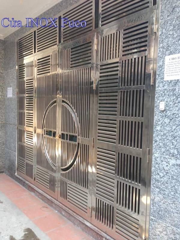 Cửa INOX cao cấp, cửa inox 4 cánh tại Hà Nội