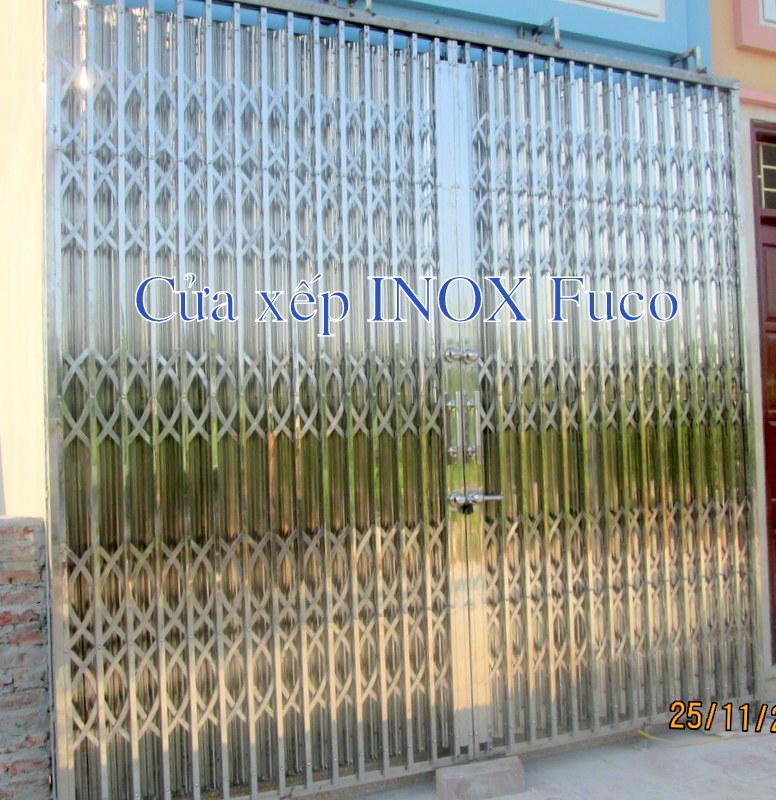 cửa xếp cao cấp 304, nan đặc có lá chống trộm Fuco tại Hà Nội