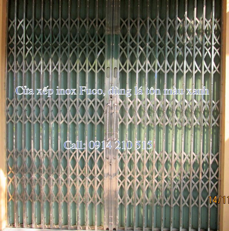 cửa xếp inox lá tôn giá rẻ