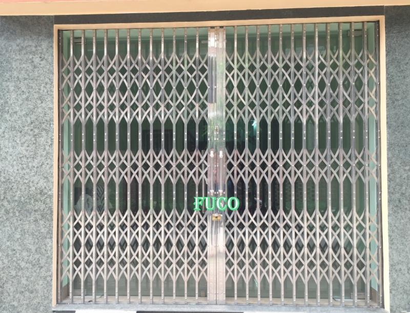 Cửa xếp inox hộp 304, tốt nhất hiện nay tại Hoàng Mai