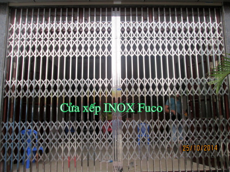 Cửa xếp inox hộp 304, tốt nhất hiện nay tại Việt Nam