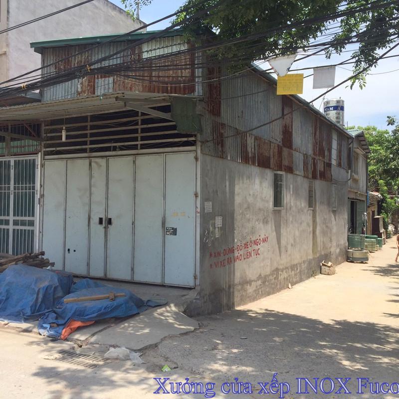 cửa xếp inox hộp fuco tại Hà Nội, nhà xưởng