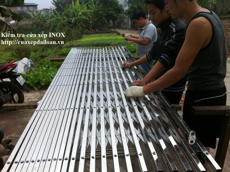 sản xuất cửa xếp inox hộp