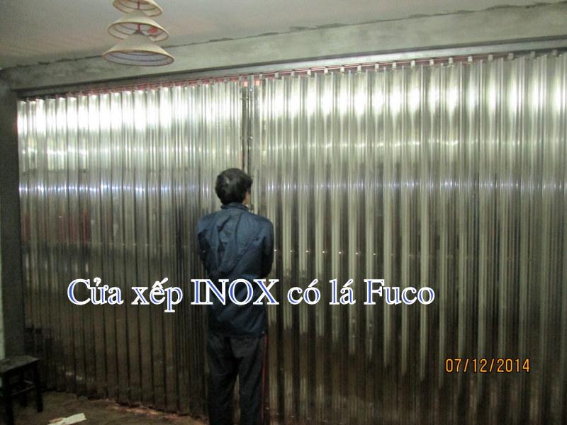thi công cửa xếp inox tại Hà Nội, thi công cửa xếp inox