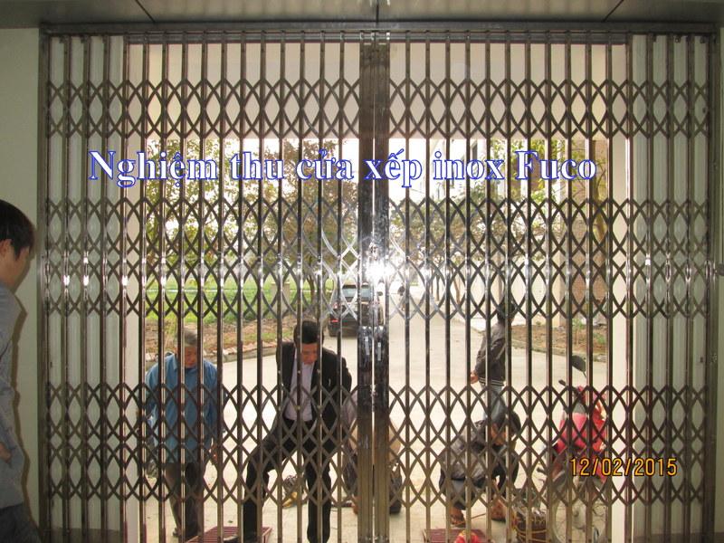 thi công cửa xếp inox tại Hà Nội, cửa xếp inox