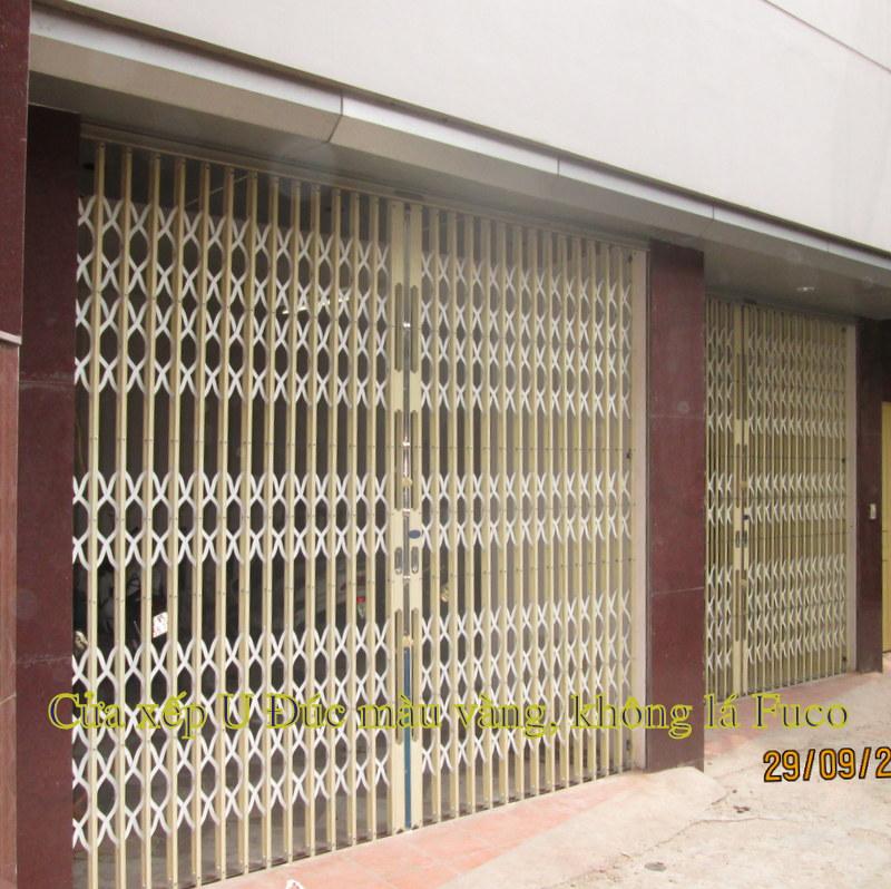 cửa xếp u đúc cao cấp fuco tại Hà Nội